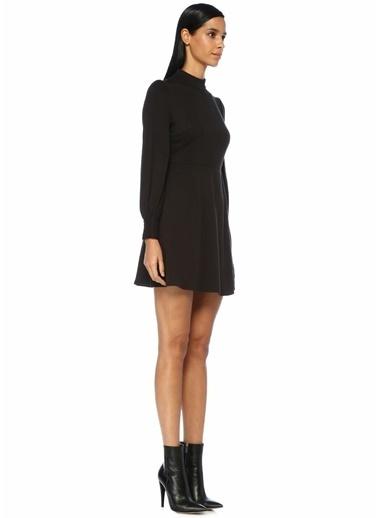 Jovonna Dik Yaka Mini Elbise Siyah